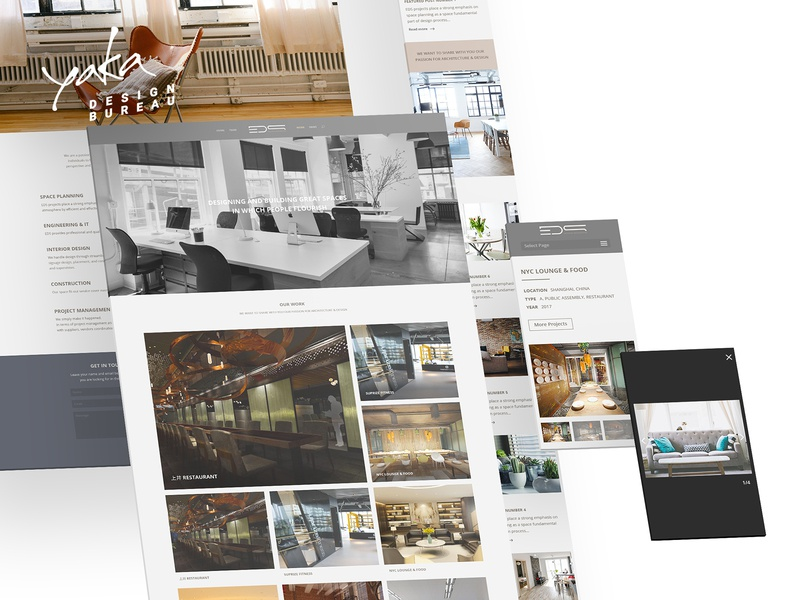 Web Design UX/UI | EDS INTERIOR ARCHITECTURE responsive webdesign interior information page identity bureau branding ux interface ui presentation yaka design adaptive