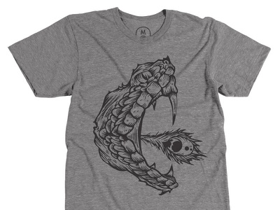 Fang & Feather Tee illustration viper fang feather snake rattlesnake shirt tee apparel triblend tri-blend american