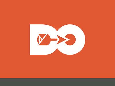 Digital Outcome identity branding logo rose arrow pacman orange black halloween archery