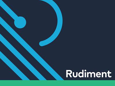 Rudiment rhythm drums percussion branding logo identity agency rudiment