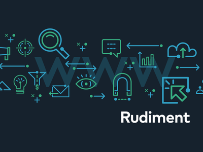 Rudiment Icons social seo media marketing icons iconography digital branding advertising