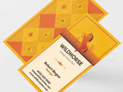 Wild Horse Tea: Business Card v2 wild packaging tea west branding horse herbal energy