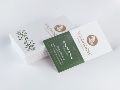 Wild Horse Tea: Business Card v1 wild packaging tea west branding horse herbal energy