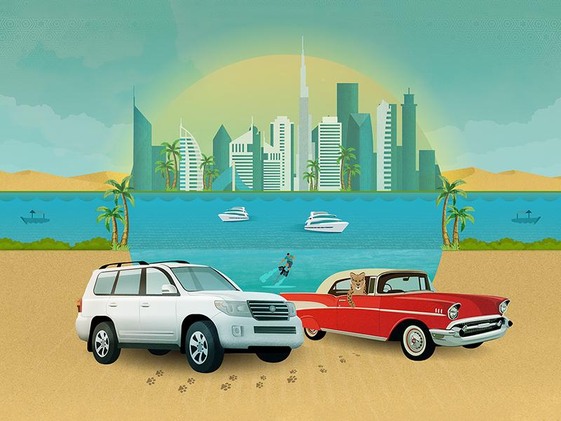 Classic Car UAE: Comparison Graphic east middle emirates arab united uae dubai landcruiser leopard cars car classic