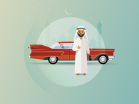Classic Car UAE: Happy Customer Illustration