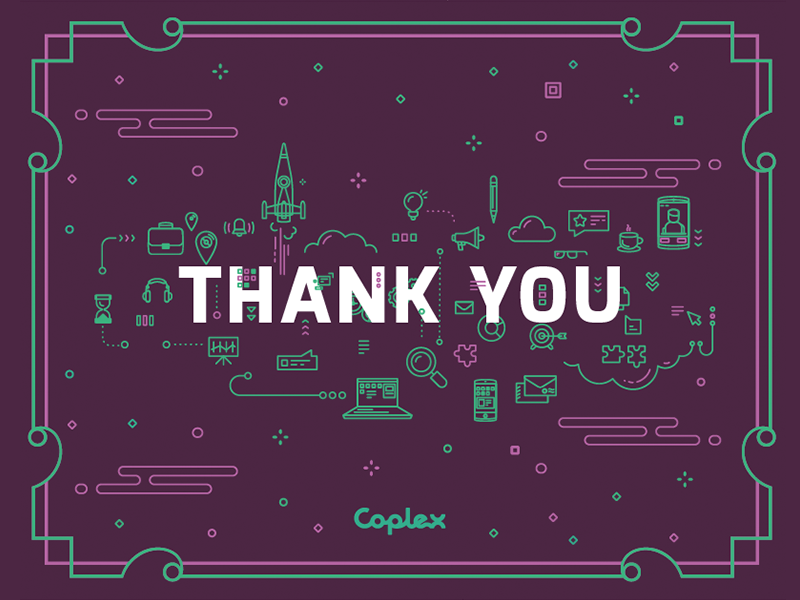 Thank You Card greeting rocket computers technology decorative illustration icons print card you thank
