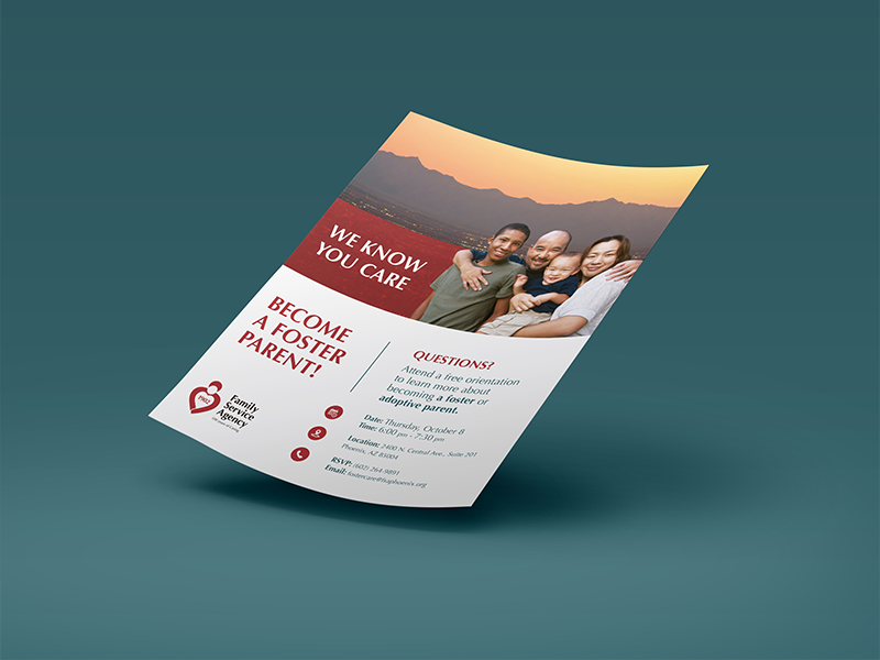 foster care adoption flyer by anthony ferrara dribbble