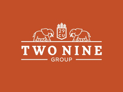 Two Nine Group Logo identity branding 29 copper zambia elephant finance capital investment business africa