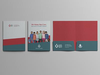 Social Work Folder work social service profit print phoenix non foster folder family care agency