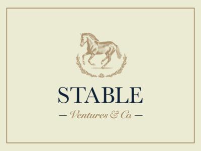 Stable Ventures Logo classic brown branding wreath rose horse logo ventures stable