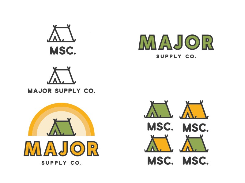 Major Supply Co. outdoors recreational msc sun yellow green tent camping co supply major