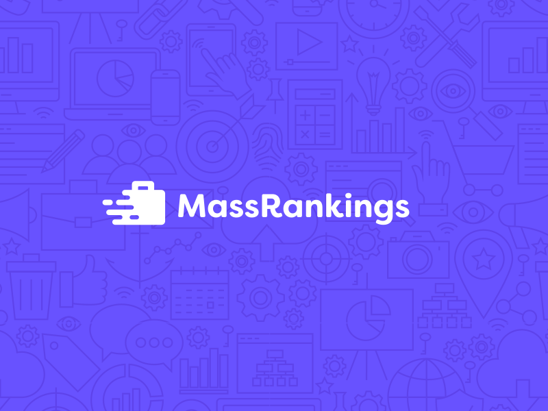 Mass Rankings seo search rankings purple optimization mass marketing logo corporate business briefcase