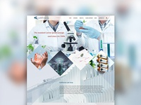 Laboratory theme website design