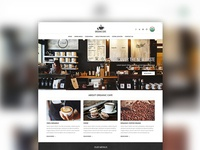 Organic Cafe theme website design