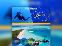 Snorkeling theme website design