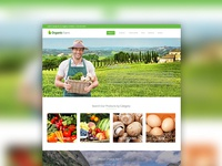 Organic Farm theme website design