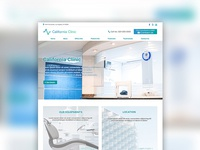 Clinic theme website design