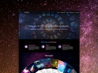 Fortune teller theme website design