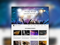 Music Venue theme website design