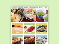 Japanese Food Market theme website design