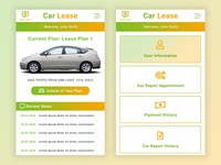Car Lease App UI Design Idea