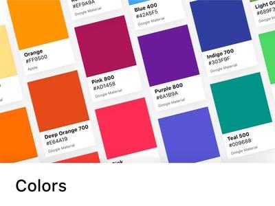 Framer X - Colors Package palette beta store package design frey fabian framer x framer color colors