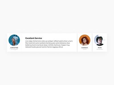 Testimonials flat swiss style design daily ui hire freelance quotes rate webdesign web ux frey fabian user interface ui profile review testimonials