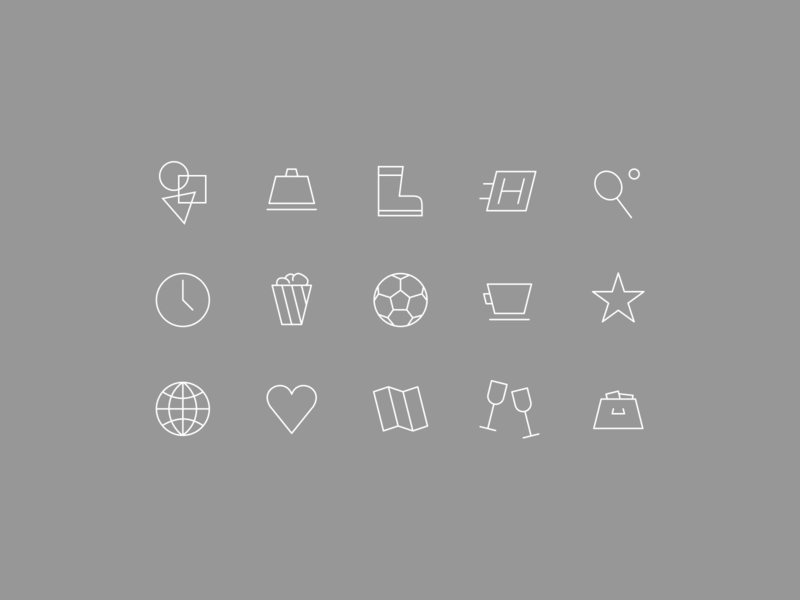 Simple Line Icons entertainment nightlife globe sports user interface design ios illustration brown white frey fabian pictogram identity brand outline line simple icons icon