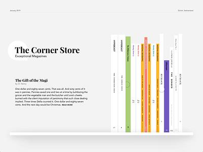 The Corner Store - #MadeWithAdobeXD ux ui design web shop the corner store invite dribbble xd adobe xd animated preview magazine store frey fabian contest adobe