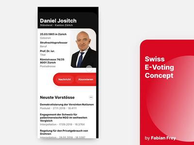 Swiss E-Voting Concept - Part 2 studio invison zurich zhdk switzerland parlament mobile web user interface ux ui concept frey fabian abstract red ios swiss voting vote