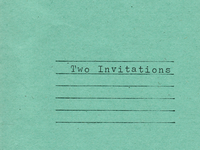 Two Invitations available