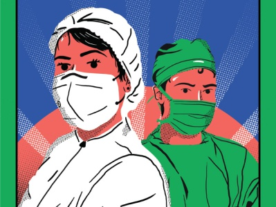 Local Heroes adobe photoshop covid-19 nurse doctors quarantine graphic design illustration