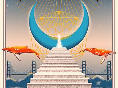 Mysticism whales surrealism holy mystical mystic graphic design digital painting illustration
