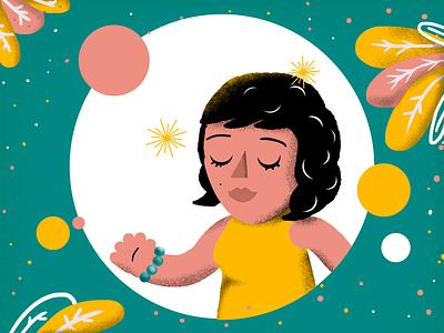 Little woman feminism woman texture character design graphic design digital painting illustration