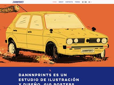 Dannnprints.com websitedesign website ux graphic design