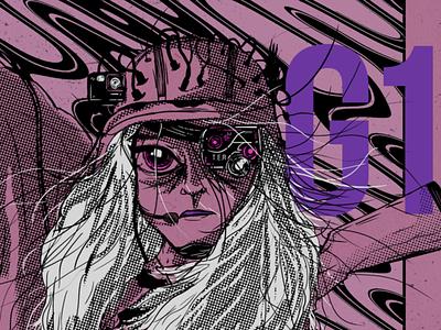 G1 cyberpunk anime music graphic design character design digital painting illustration