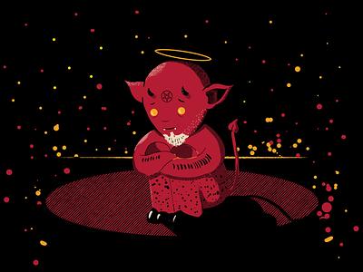 Sad Devil devil character design graphic design digital painting illustration