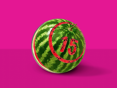 Watermelon Bingo bingo watermelon photoediting photoshop illustration