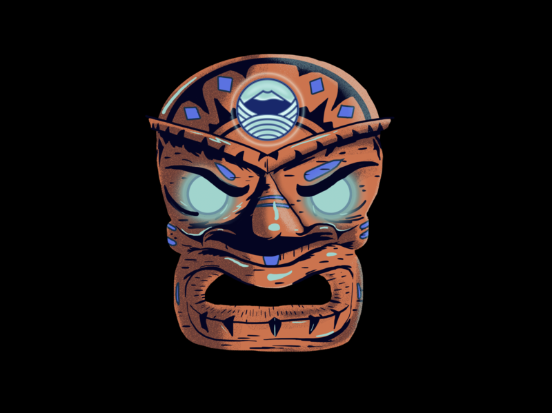 Kanaloa gods mythology polynesian hawaiian mask adobe photoshop character design digital painting illustration