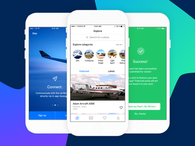 PlanesOnly - iOS Redesign fargo thiken redesign app ios planesonly