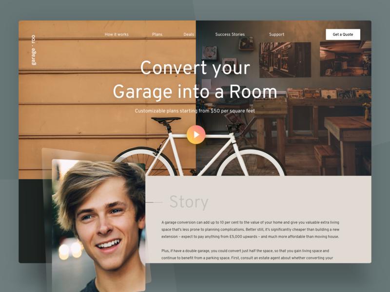 Convert your Garage into a Room [Concept] real estate hcd ixd web design web ui design web ui uidesign ux design uxd user experience user interface design user interface ui user interface uiux ui