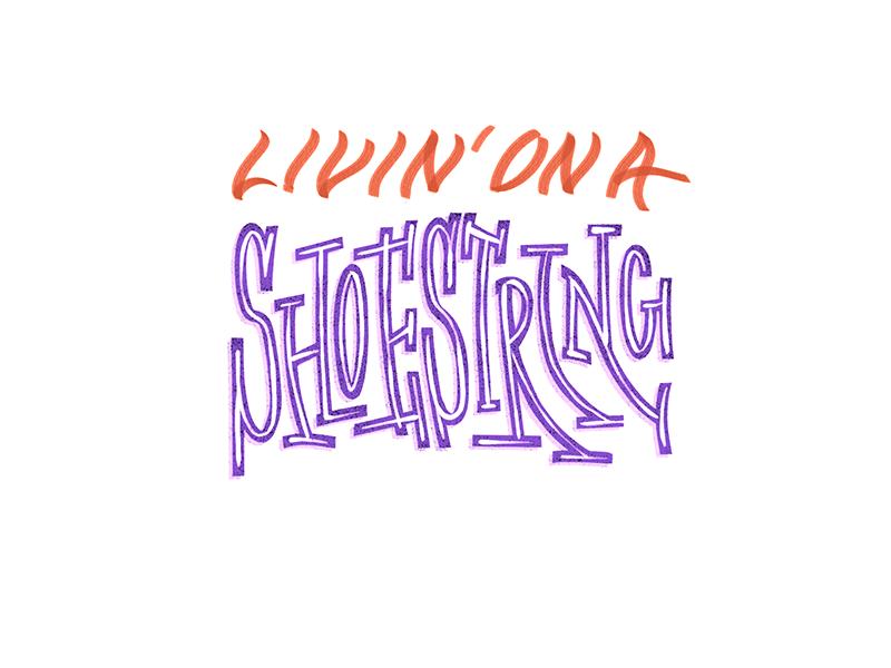 Shoestring wordmark typography type script lettering handtype custom