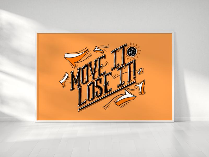 Move it. serif hand type custom type wordmark type script handtype typography lettering