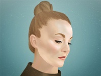 Best Friend profile girl procreate illustration portrait