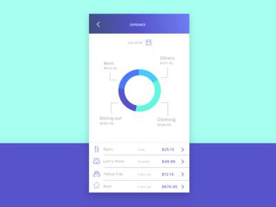 Expense Control - App Concept - Screen #2