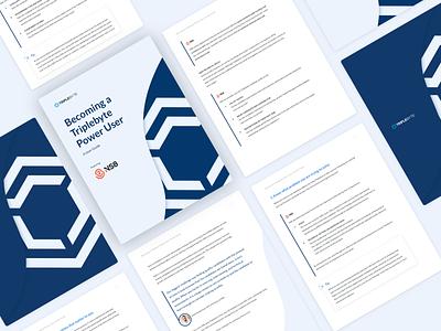 Triplebyte Power User Guide document design minimal pdf branding graphic design design user guide document typesetting