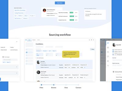 Product Demo Landing Page design candidates recruiting hackathon app minimal web product design landing page demo web design ui design ui