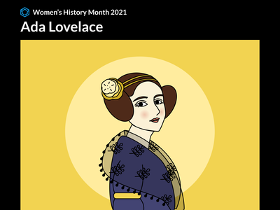 Women's History Month 2021 - Ada Lovelace figma design illo womens history month portrait art graphic flat engineer computer science ada lovelace illustrator illustration