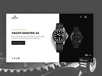 Luxury & Simple Watch Website rolex remake watches design simple ux