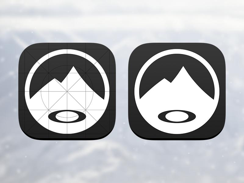 Oakley Airwave App Icon app icon ios7 iphone snow snowboard android oakley ski hud airwave